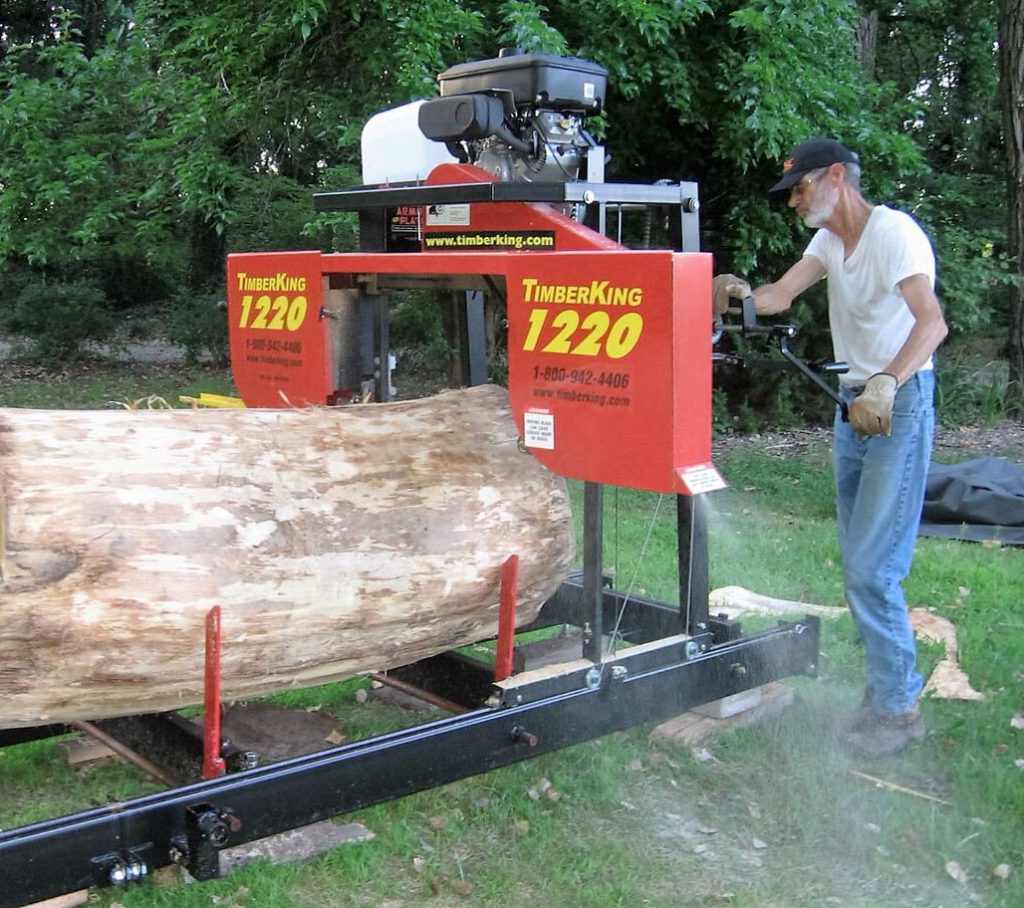 A recently retired engineer, Jim Hilton is a practical-minded man. He chose getting a TimberKing 1220 Sawmill over taking a retirement vacation. Jim's sawing is a hobby now but he sees it as future part-time income in retirement.