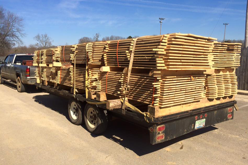 """""""4,000 board feet of fence board complete with dog ears delivered... Yeah we do that. Ask the folks at West Point High School Baseball"""""""