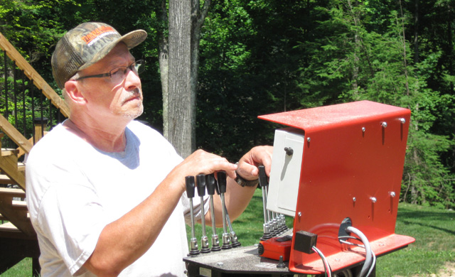 Michael Stalnaker worked for many years as a millwright. Now, in retirement, he's starting a saw milling business with his TimberKing 2000