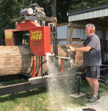 "What would you estimate Charles is sawing -- a 30"" diameter log? 32""?"