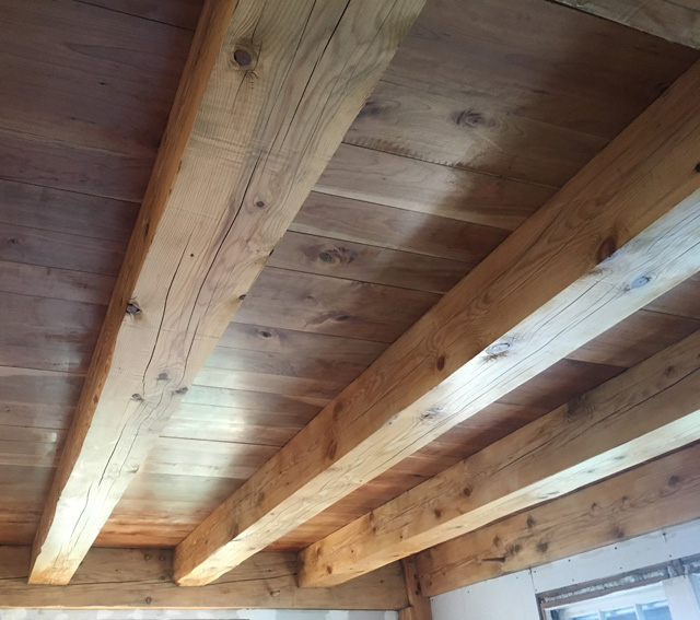 Hank and Rhonda built their home addition like old-time Vermonters did, with handsome post and beam construction. And they did it themselves.