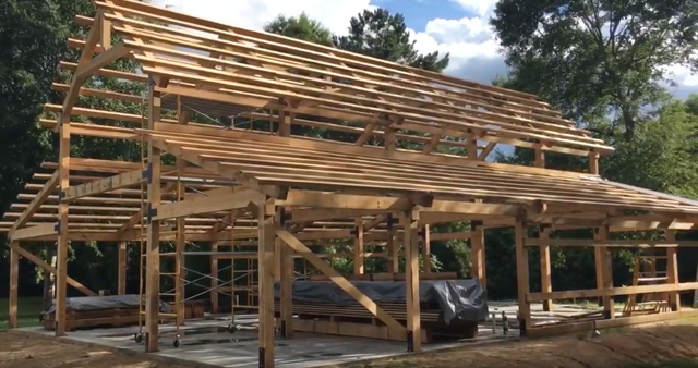 A FAMILY BARN RAISING – building Grandma's legacy with a TimberKing