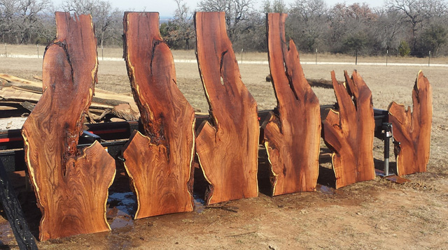 "Brian saws out extraordinarily beautiful slabs in his sawmill operation, Bull Basin Woodworks. Lots of 1"" material, too."